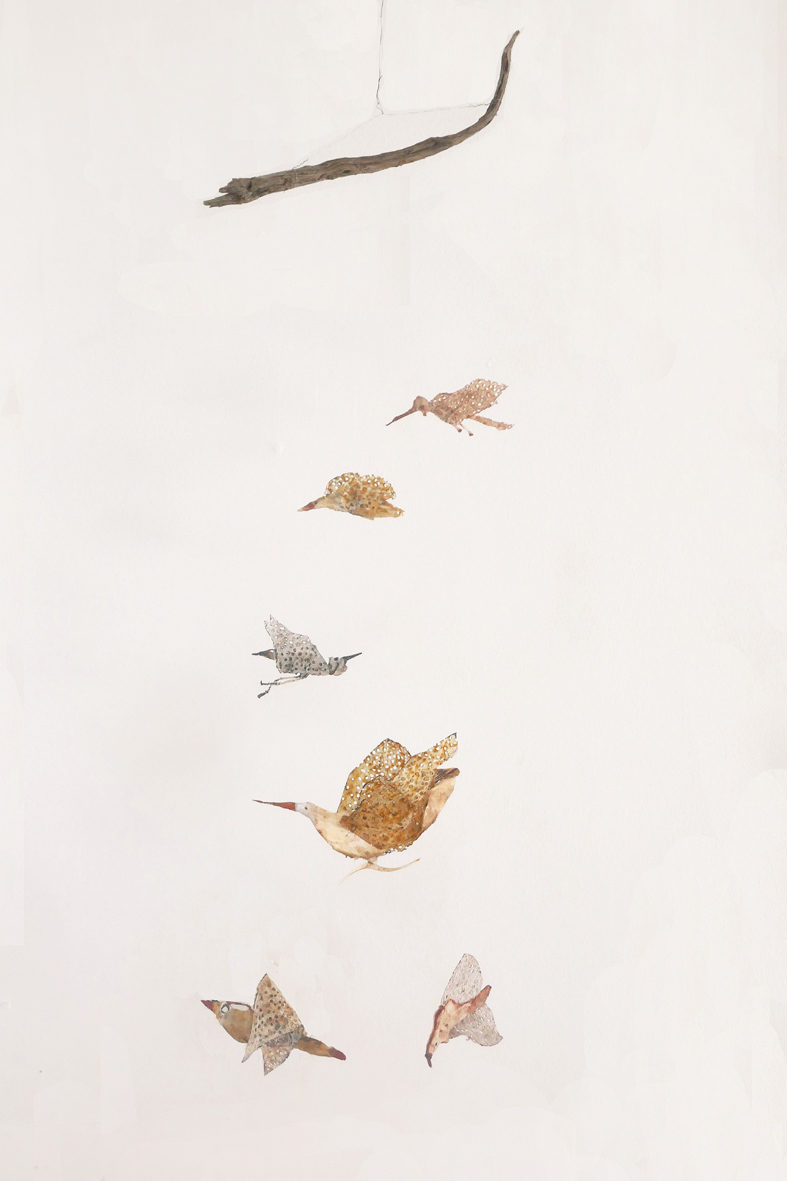 Flying II, 124x84x4cm, mixed media