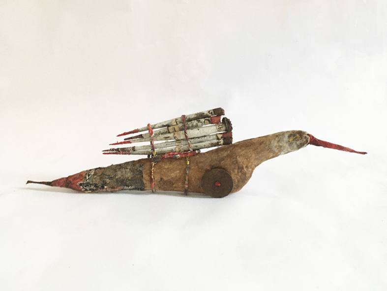 Kostbare Vracht I, 23x5,5x2cm mixed media